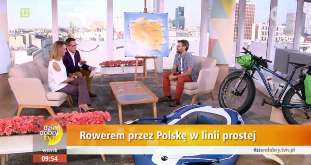 Polska Prosto Rowerem w Dzień Dobry TVN