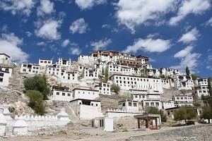 Indie, Ladakh,klasztor buddyjski Tikse